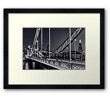 Tower Bridge, London at night. Framed Print