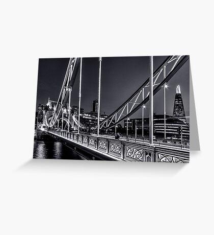 Tower Bridge, London at night. Greeting Card