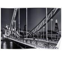 Tower Bridge, London at night. Poster