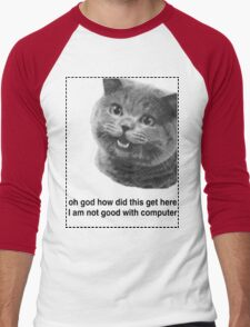 Happy Cat Men's Baseball ¾ T-Shirt