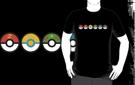 Rainbow Pokeballs v2 by Mechanical-Koi