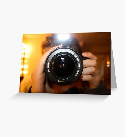 Photo Photographer Greeting Card