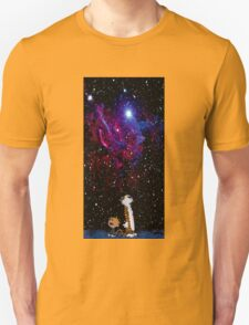 calvin and hobbes night sky T-Shirt