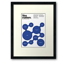 Size matters (I) Framed Print