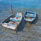 Two working boats by Freda Surgenor