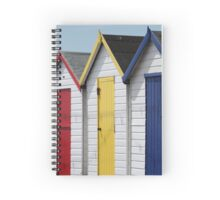 Colourful wooden English beach huts Spiral Notebook