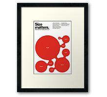 Size matters (II) Framed Print