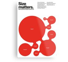 Size matters (II) Metal Print