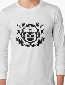 8 Bit Ink Blot - MegaMan Long Sleeve T-Shirt