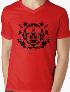 8 Bit Ink Blot - MegaMan Mens V-Neck T-Shirt