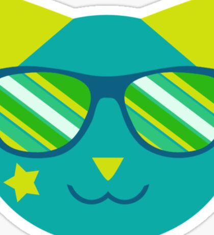 Retro Space Cat  Sticker