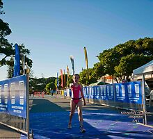 Kingscliff Triathlon 2011 Finish line B5912 by Gavin Lardner