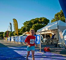Kingscliff Triathlon 2011 Finish line B5913 by Gavin Lardner