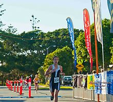 Kingscliff Triathlon 2011 Finish line B5921 by Gavin Lardner