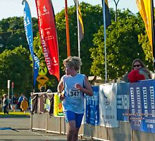 Kingscliff Triathlon 2011 Finish line B5923 by Gavin Lardner