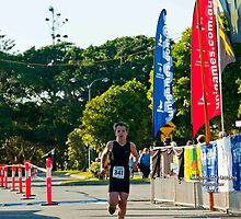 Kingscliff Triathlon 2011 Finish line B5926 by Gavin Lardner
