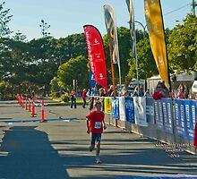 Kingscliff Triathlon 2011 Finish line B5942 by Gavin Lardner