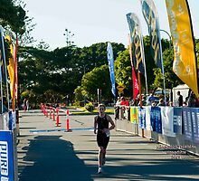 Kingscliff Triathlon 2011 Finish line B5943 by Gavin Lardner