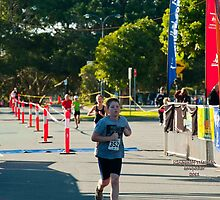 Kingscliff Triathlon 2011 Finish line B5946 by Gavin Lardner