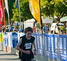Kingscliff Triathlon 2011 Finish line B5950 by Gavin Lardner