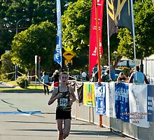 Kingscliff Triathlon 2011 Finish line B5951 by Gavin Lardner