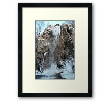 "Big ""honey falls"" Framed Print"