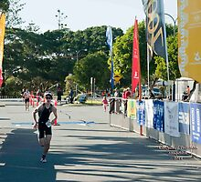Kingscliff Triathlon 2011 Finish line B5973 by Gavin Lardner