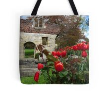 Tulips and ruins in the museum gardens, York Tote Bag