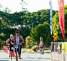 Kingscliff Triathlon 2011 Finish line B5978 by Gavin Lardner