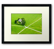 Green heart Framed Print