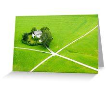 Green heart Greeting Card