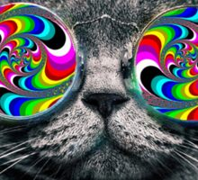 Psychedelic Trippy Cat Sticker