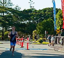 Kingscliff Triathlon 2011 Finish line B6002 by Gavin Lardner