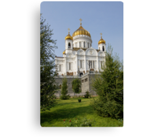 temple of the Christ of the Savior, Moscow Canvas Print