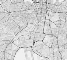 Sydney, Australia Map. (Black on white) Sticker