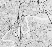 Brisbane, Australia Map. (Black on white) Sticker