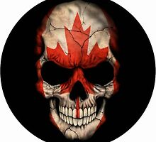 Cool Canadian Flag Skull! by FrePeeters