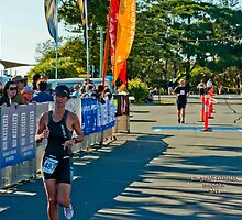 Kingscliff Triathlon 2011 Finish line B6016 by Gavin Lardner