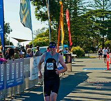 Kingscliff Triathlon 2011 Finish line B6018 by Gavin Lardner