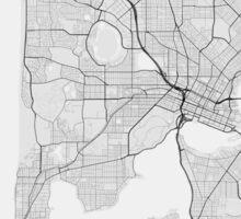 Perth, Australia Map. (Black on white) Sticker