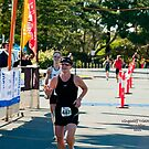 Kingscliff Triathlon 2011 Finish line B6033 by Gavin Lardner