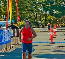 Kingscliff Triathlon 2011 Finish line B6037 by Gavin Lardner