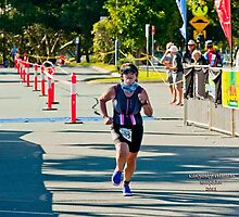 Kingscliff Triathlon 2011 Finish line B6051 by Gavin Lardner