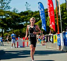 Kingscliff Triathlon 2011 Finish line B6136 by Gavin Lardner