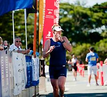 Kingscliff Triathlon 2011 Finish line B6181 by Gavin Lardner