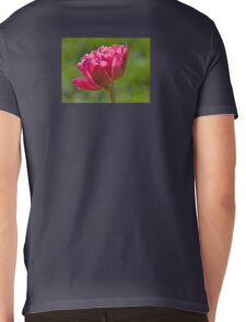 Backlit Fluffy Tulip Mens V-Neck T-Shirt