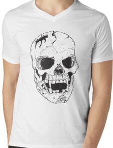 Vampire Skull Mens V-Neck T-Shirt