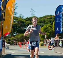 Kingscliff Triathlon 2011 Finish line B6183 by Gavin Lardner