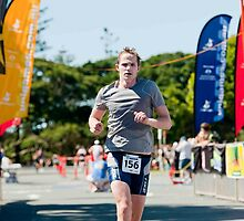 Kingscliff Triathlon 2011 Finish line B6185 by Gavin Lardner