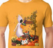 Halloween Cats and the Friendly Ghost Unisex T-Shirt